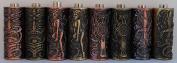 """1TattooWorld 8pcs 20mm(5/8"""") Empaistic Copper Tattoo Grip w/ Stem for Tattoo Machine & Needles, OTW-ZAS-S4"""
