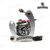 Dragonhawk Tattoo Machine Premium Iron 10 Wrap Shader With Box