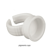 GD Tattoo Permanent Makeup Ink Pigment Caps 50Pcs Glue Cup Rings Holder Eyelash Extension Ring