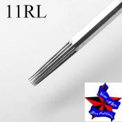 New Star 50pcs/box 11RL Round Liner Pro Tattoo Sterile Disposable Gun Machine ink Needles Tattoo needles 11RL