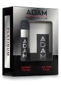 Adam Platinum Club Gift Set, 50ml After Shave + Deodorant Spray