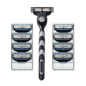 US stock 8pcs razor Blades 1 Razor holder set men shaver handhold razors shaving