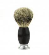BREETO 100% SILVERTIP BADGER MEN'S SHAVING BRUSH - Hand Crafted To Provide Smoothest and Cleanest Shave. Our Handles are Elegantly Designed Using the Finest Wood