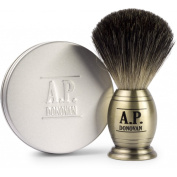 A.P. Donovan - Pure Badger Shaving Brush taken in stainless steel - 110g vegetable Shaving