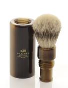 St James Travel Super Badger Hair Brush Faux Horn