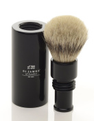 St James Travel Super Badger Hair Brush Ebony