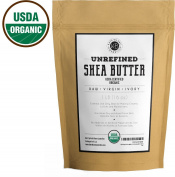 USDA Organic Shea Butter from Kate Blanc, Unrefined, Raw, Virgin Organic, Natural. Great For DIY Body Butters, Lotions, Soap, Eczema & Stretch Marks Products, Hand Cream, Lip Balms