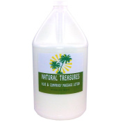Natural Treasures One Gallon Aloe and Comphrey Massage Lotion, Coconut, Oil Base