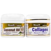 Mason Vitamins, Mason Vitamins, Coconut Oil Beauty Cream + Collagen Beauty Cream