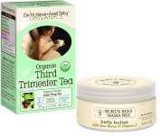 Expecting Mothers' Comfort Pack Featuring Earth Mama Angel Baby Organic Third Trimester Tea (16 Bags) & Burt's Bees Mama Bee Belly Butter, 190ml - 2 Items Bundled by Maven Gifts