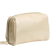 Aoert Pu Leather Handy Cosmetic Pouch Clutch Portable Makeup Bag Professional Personal Organisers