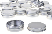 BCP 20pcs 1 Ounce 30ml Aluminium Tin Screw Cap Round Storing Can Container