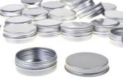 BCP 20pcs 1 Ounce 30ml Aluminium Tin Screw Cap Round Storing Can Container
