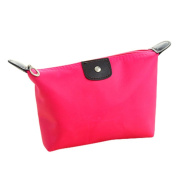 Drasawee Waterproof Toiletry Cosmetics Bag Makeup Case Travel Accessory Organiser Rosy Red