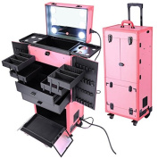 Professional Makeup Train Rolling Case (Cosmetics)