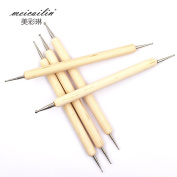 Sindy Nail Double Crystal Screw Point Pen Wood Pen Nail Nail Polish Nail Polish Gel 5pcs Nail Set