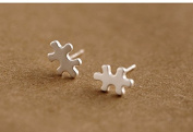 925 Sterling Silver Earring New Fashion Design Puzzle Stud Earrings for Women