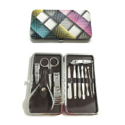 One Set 12pcs Multifunction Stainless Steel Personal Manicure and Pedicure Set Travel Grooming Kit with Box