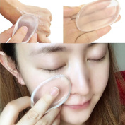 Leoy88 Jelly Puff Powder Transparent Face Flutter