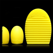 Togirl Cleaners Egg Cleaning Glove MakeUp Washing Brush Scrubber Board Brushegg, Yellow