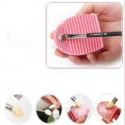 Hearts shop Cleaning Brush Silicone Glove Scrubber Cosmetic Cleaning Tool