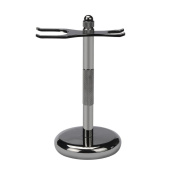 Razor Brush Stand, ZY Removable Shaving Stand Razor Brush Holder Stainless Steel Weighted Base