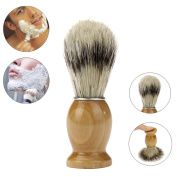 Razor Brush, ZY Professional Barber Salon Shave Shaving Razor Brush Wood Handle Tool