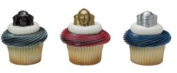 Star Wars Metallic Cupcake Rings Party of 24 Cupcake Rings 24Favor STickers 24BakingCups