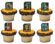 Star Wars Rebels Cupcake Rings Party of 24 Cupcake Rings 24Favor STickers 24BakingCups