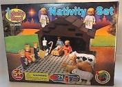 Trinity Toyz Children's Nativity Building Block Set 71 Piece 8 figures 4 Animals