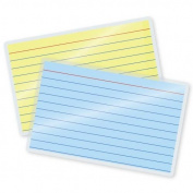 5 Mil File/Index Card Laminating Pouches 7.6cm - 1.3cm x 13cm - 1.3cm