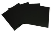 .  , 10cm Black Glass Fusible Squares 90 COE - 4 Pack