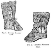1879 2 Infant's Crochet Boots Pattern
