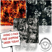 Hydrographic Film - Water Transfer Printing - Hydro Dipping - Evil Skulls Hydro 3 pack