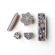 Hexa and Assorted Asian Motif Wooden Stamps for Printing