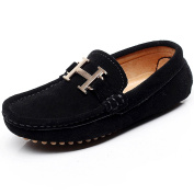 Shenn Boys' Nice Slip-On Suede Leather Loafers Shoes S88818