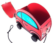 KidStyle Red/Blue Car Carrying Case - For Toy Storage, Play, Collecting, Display