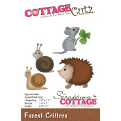 CottageCutz Forest Critters Die-Hedgehog, Mouse, Snails, .20cm To 3.6cm