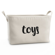Fawn Hill Co Toy Storage Box Basket for Kids or Pets - White Medium