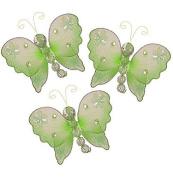 The Butterfly Grove Emily Decoration 3D Hanging Mesh Organza Nylon Decor, Green Honeydew, Mini, 7.6cm x 7.6cm