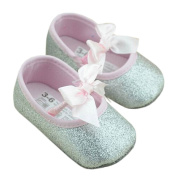 Lyshi Baby Girls Toddler Soft Sole Sequins Princess First Walking Shoes