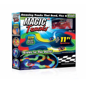 Magic Tracks,Panck Flex and Glow Racetrack with 3.4m 220-Piece and 1 Rate Car