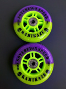 2 100mm Inline Wheels with Abec7 bearings-scooter kamikaze speed pro razor lucky
