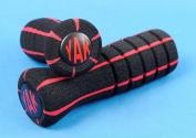 YAK Scooter Handlebar Grips Slipstream - Black w/ Red Stripes Razor Lucky