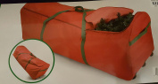 Red Holiday Christmas Tree Storage Bag Canvas With Wheels Fits 2.7m Tree
