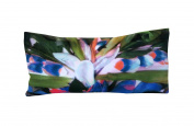 Silk Eye Pillow 4.5 x 9 - Washable - Soothing Lavender Chamomile Flax - organic scented - yoga meditation - leaves flowers green pink blue tropical