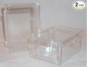 Custom Angler Clear Plastic Fly Boxes 3x2x1 Flip Top Hinged Lid