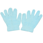Gold Medal Girls Blue Solid Colour Soft Texture Winter Gloves