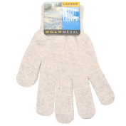 Gold Medal Big Girls Grey Solid Colour Knit Soft Winter Gloves