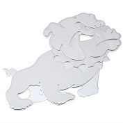 Valoxin(TM)3D Car Stainless Steel Decal Sticker Mental Animal DOG Stickers for Window Head Tial Windshield